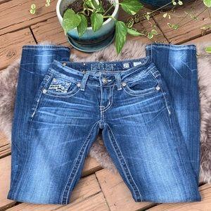 Miss Me Vintage Wash Embellished Straight Jeans 25
